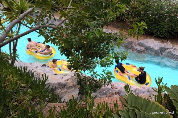 Siam Park- spływ rzeką wokół aquaparku