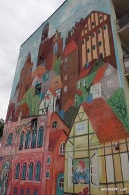 Mural w Strzelcach Krajeńskich