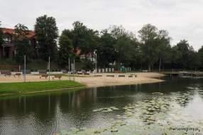 Plaża nad Jeziorem Górnym w Strzelcach Krajeńskich