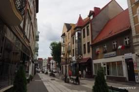 Różnorodna zabudowa centrum Gorzowa