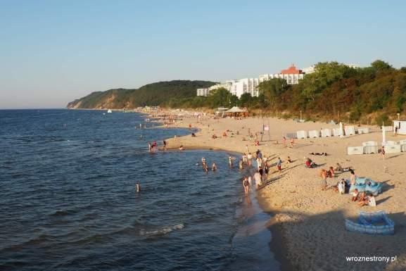 Plaża w Międzyzdrojach, widok z molo