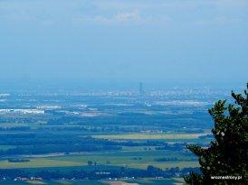 Widok ze Ślęży na Wrocław