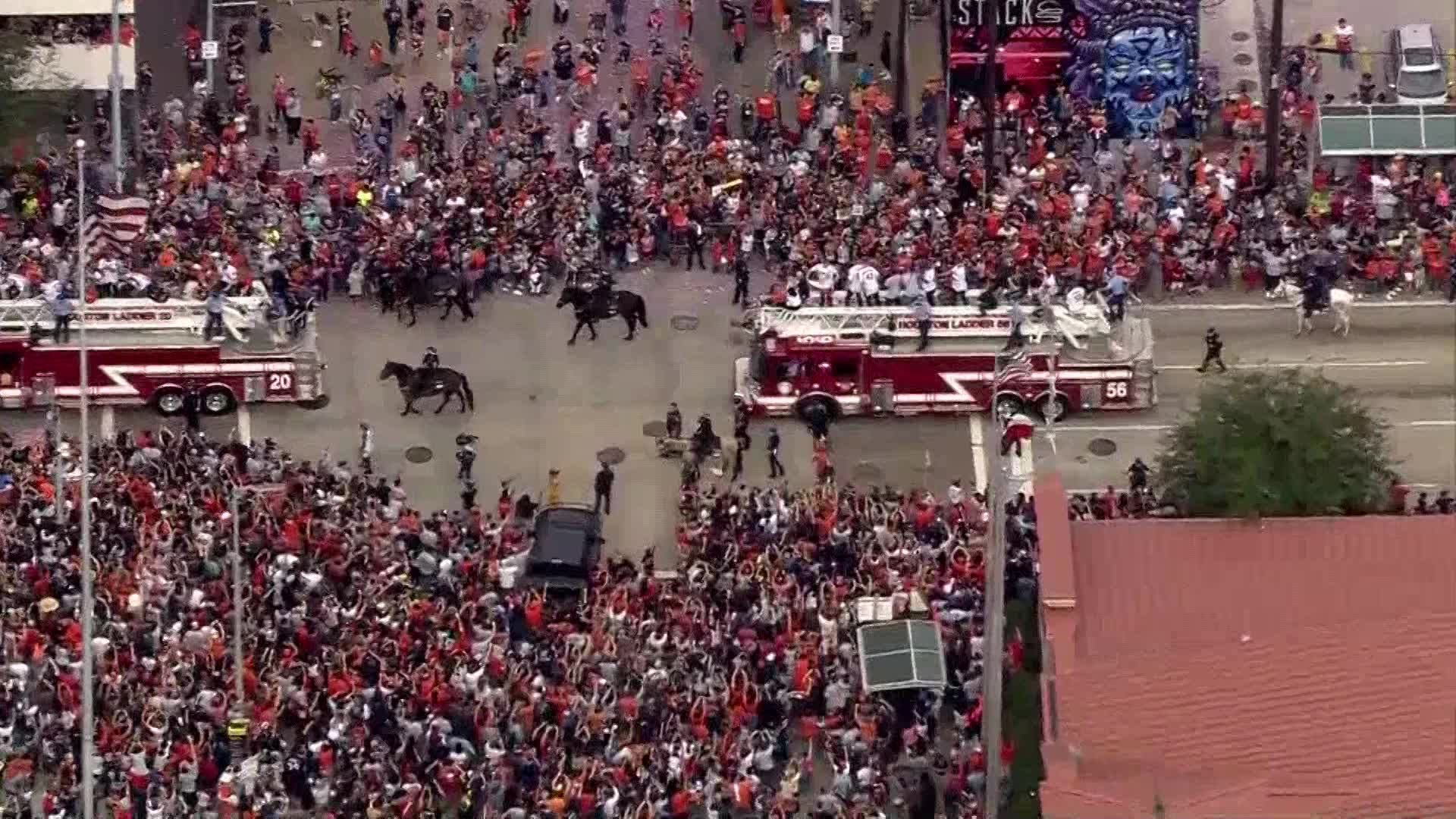 Houston celebrates World Series win