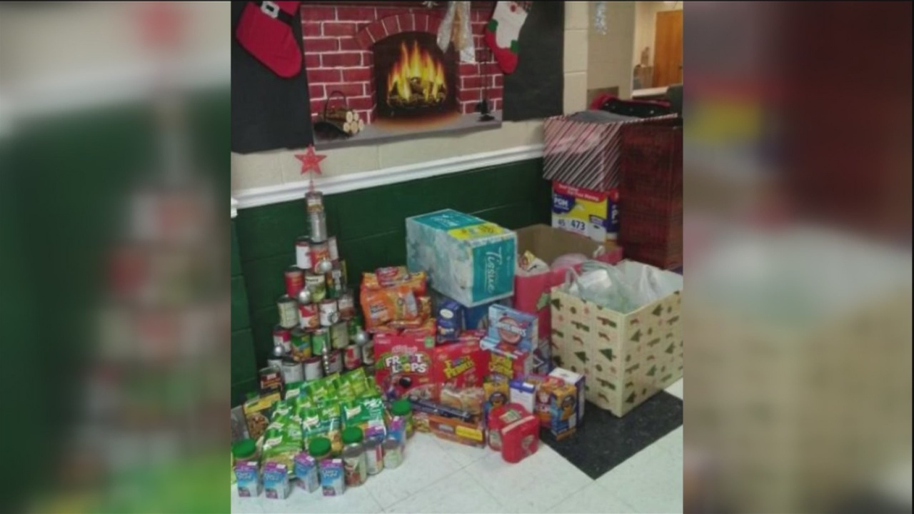 School donation drives helps homeless