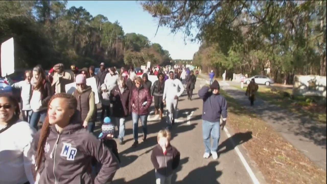 Lowcountry honors Dr Martin Luther King with marches, rallies