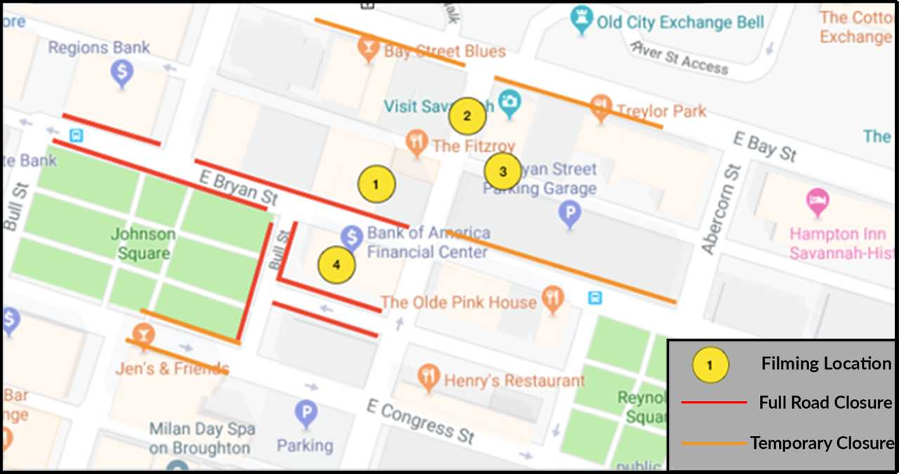 Road closures Monday for movie filming in Savannah