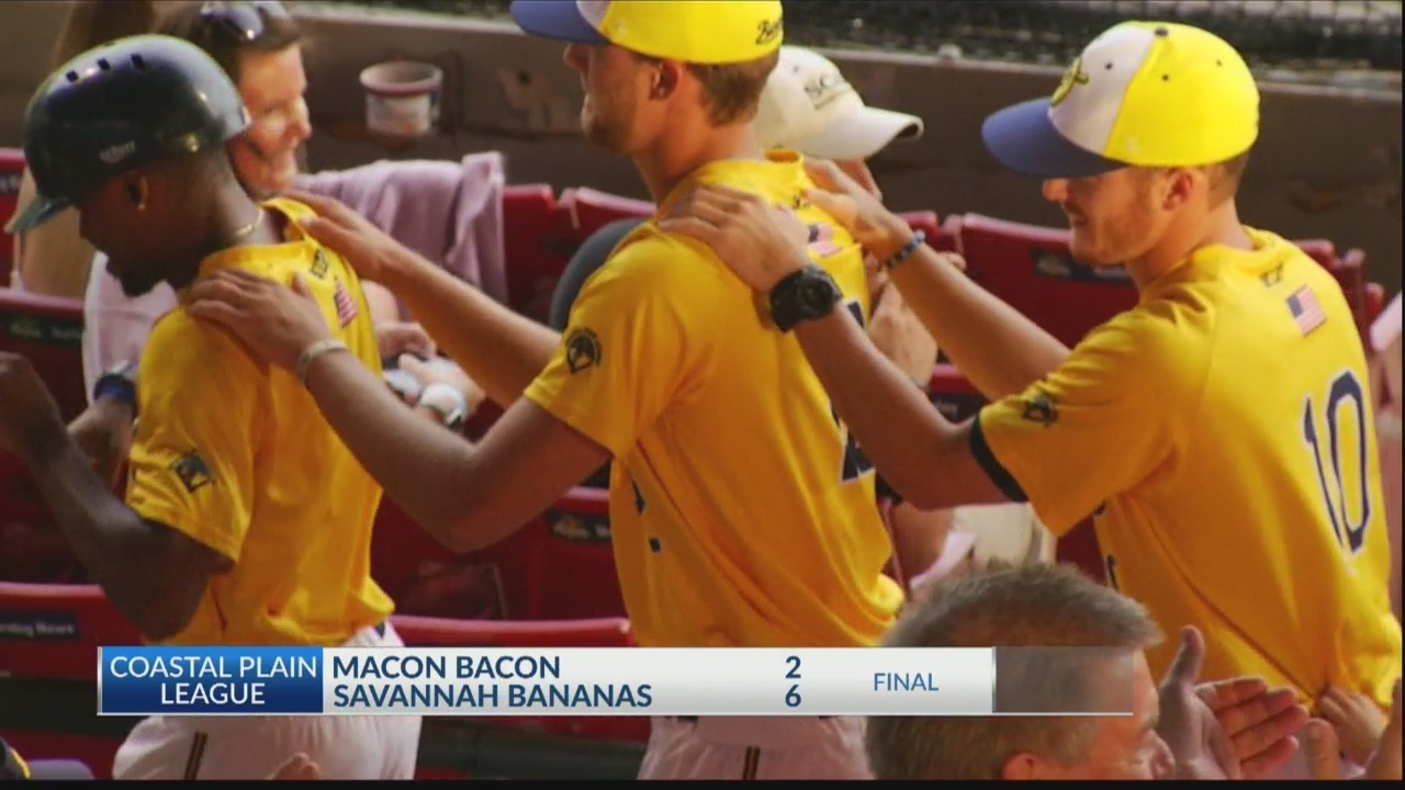 Bananas stop the sizzle, down Macon Bacon 6-2