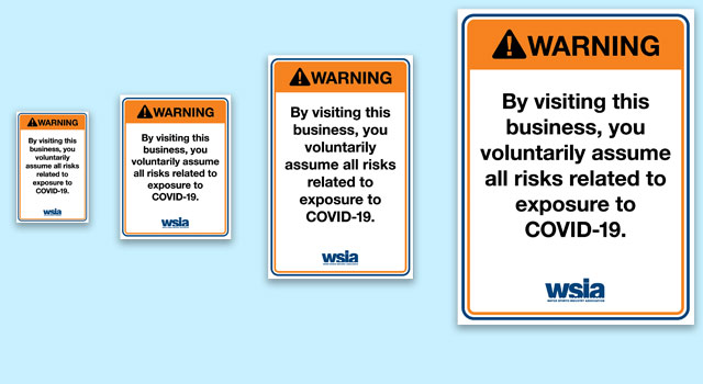 The WSIA has created a set of COVID-19 warning signs to help protect your business. Your annual member username and password are required to download these files. Warning Signs There […]