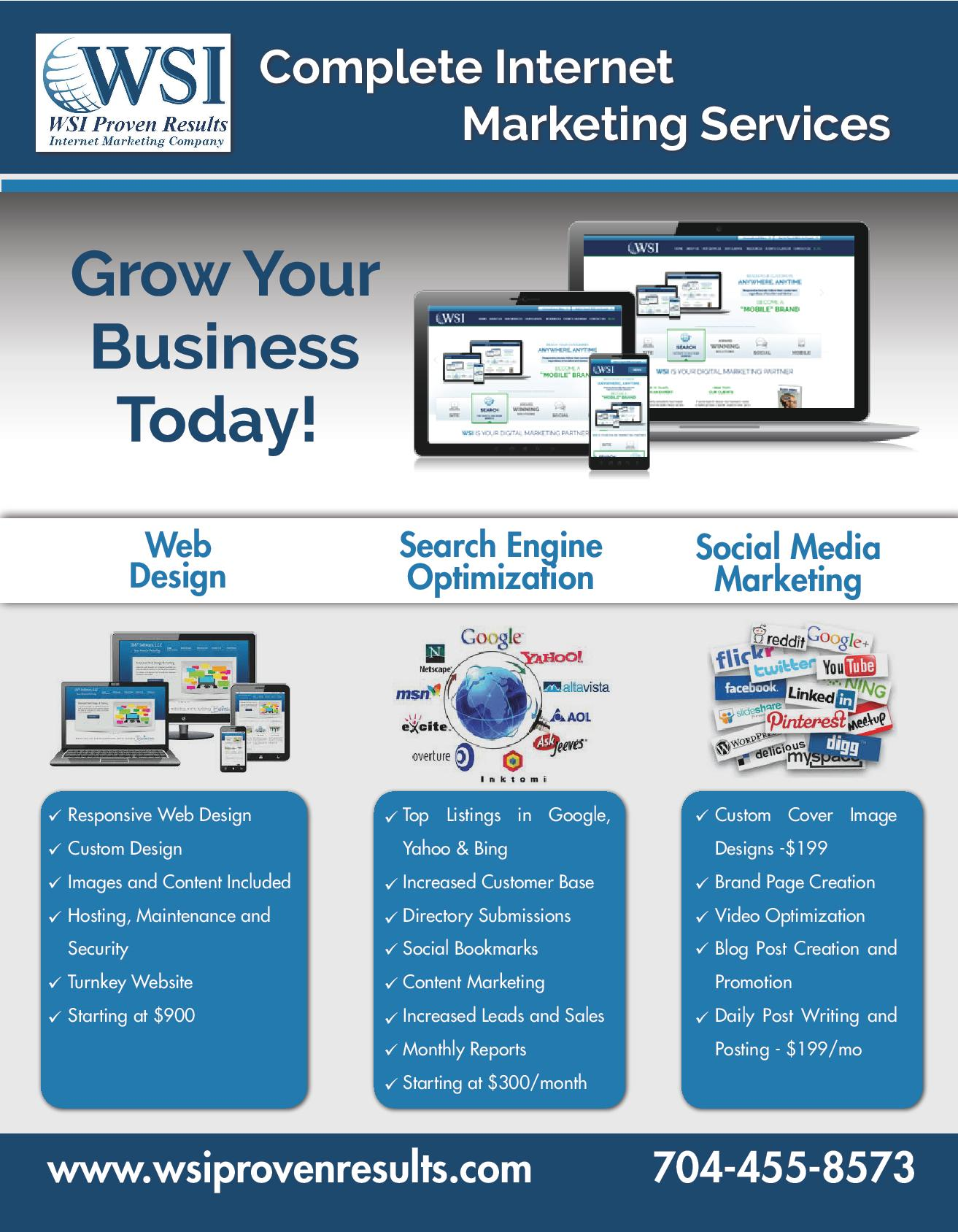 Grow Your Business Online Today - WSI Proven Results