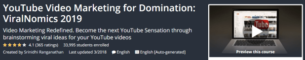 YouTube Video Marketing for Domination - ViralNomics 2019 Download