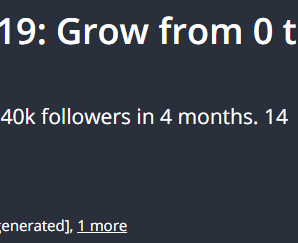 [GET] Instagram Marketing 2019: Grow from 0 to 40k in 4 months Download