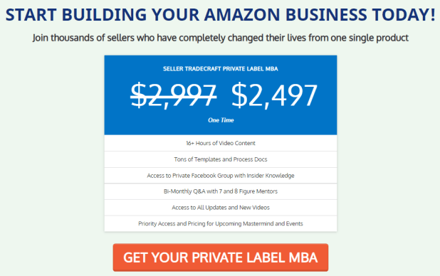 Seller Tradecraft - Private Label MBA Download
