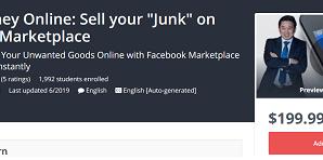 "[GET] Make Money Online: Sell your ""Junk"" on Facebook Marketplace Download"