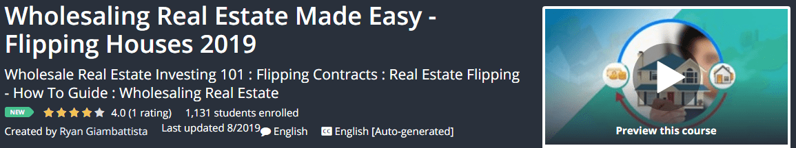 Wholesaling Real Estate Made Easy - Flipping Houses 2019 Download