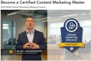DigitalMarketer - Russ Henneberry - Become a Certified Content Marketing Specialist Download