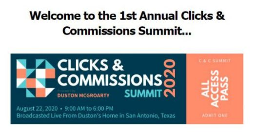 Duston Mc Groarty - Clicks & Commissions Summit 2020 Download