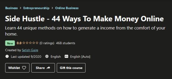 Side Hustle - 44 Ways To Make Money Online Free Download