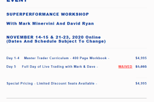 Mark Minervini – 5-Day Master Trader Program ONLINE EVENT Download
