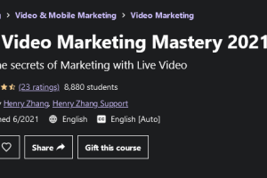 Live Video Marketing Mastery 2021 Free Download