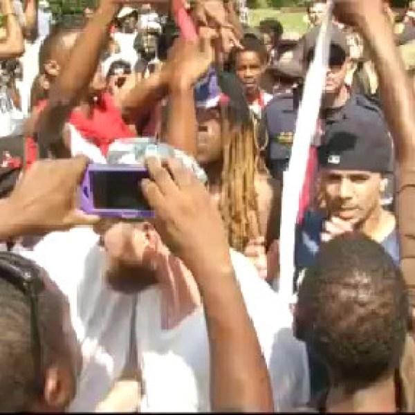 Fights, Arrests Outside KKK Rally, Black Educator Protest_29784