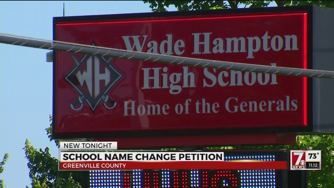 Students petition for Upstate high school's name to be changed