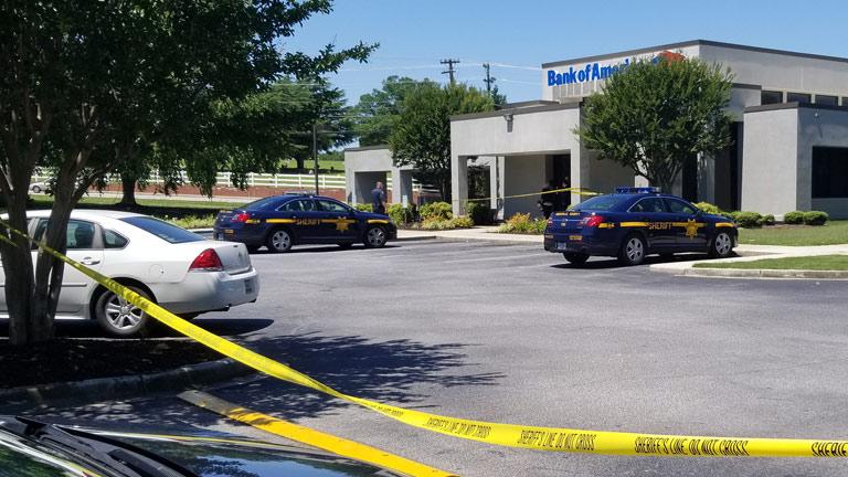 Bank of America robbery on Wade Hampton Blvd.