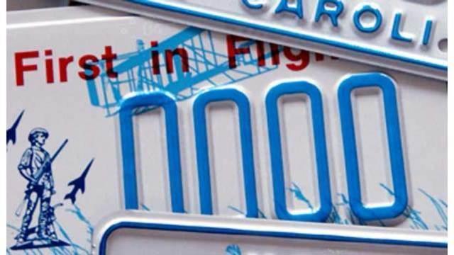 North Carolina DMV OKs license plate