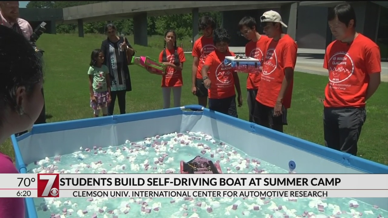 Students build autonomous boats at Clemson summer camp