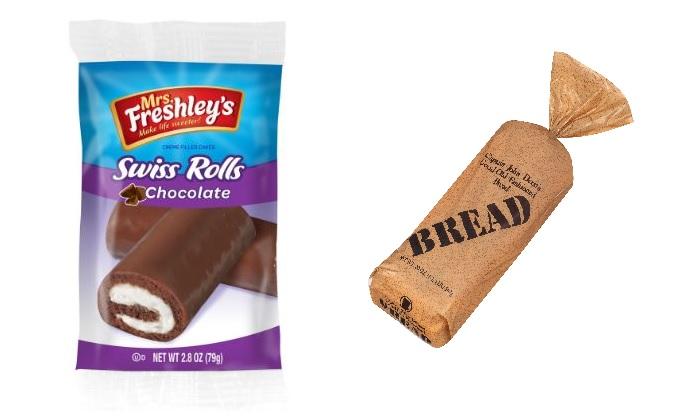 Swiss Rolls and Bread