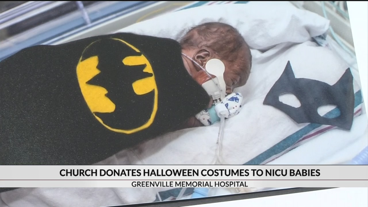 Church donates Halloween Costumes to Greenville NICU babies