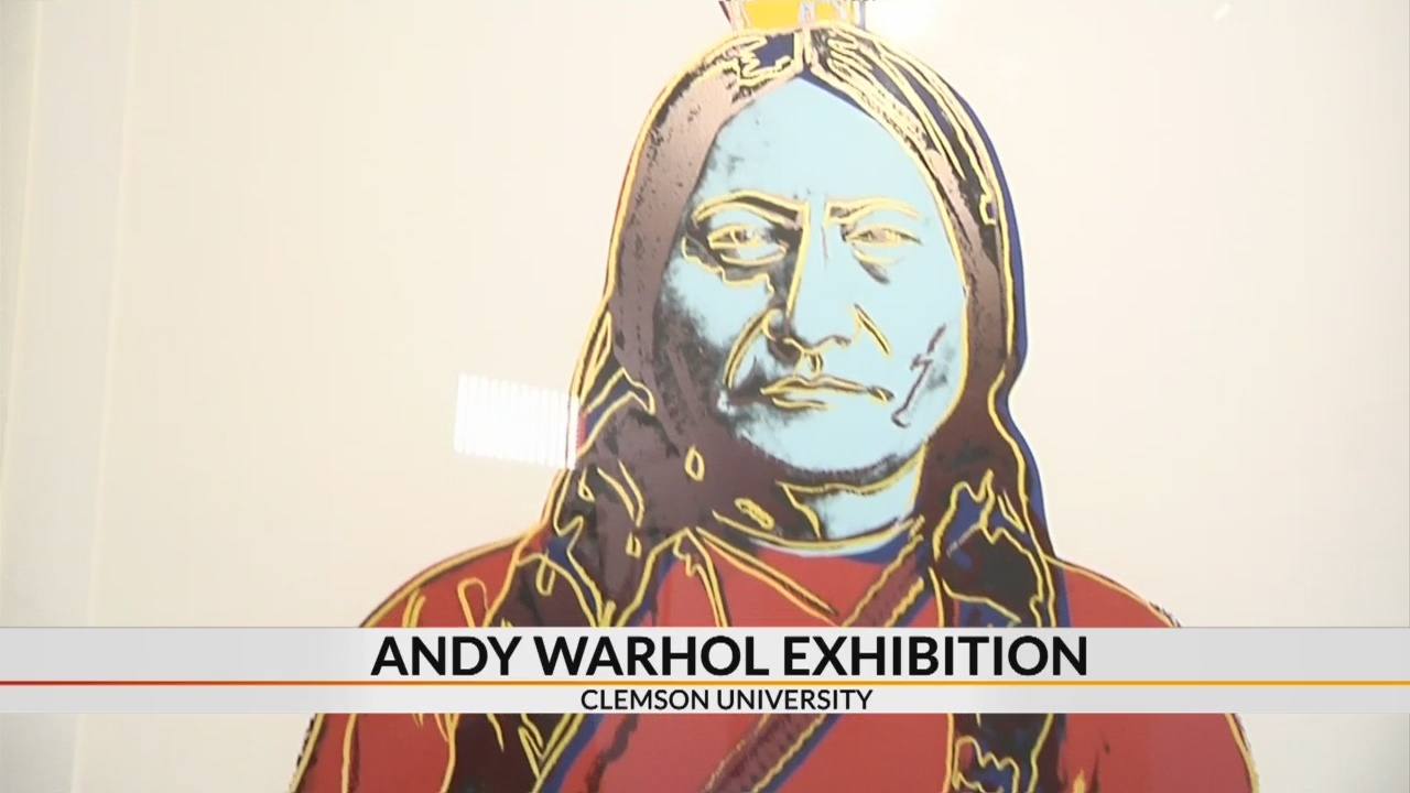 Andy Warhol original artwork on display at Clemson University
