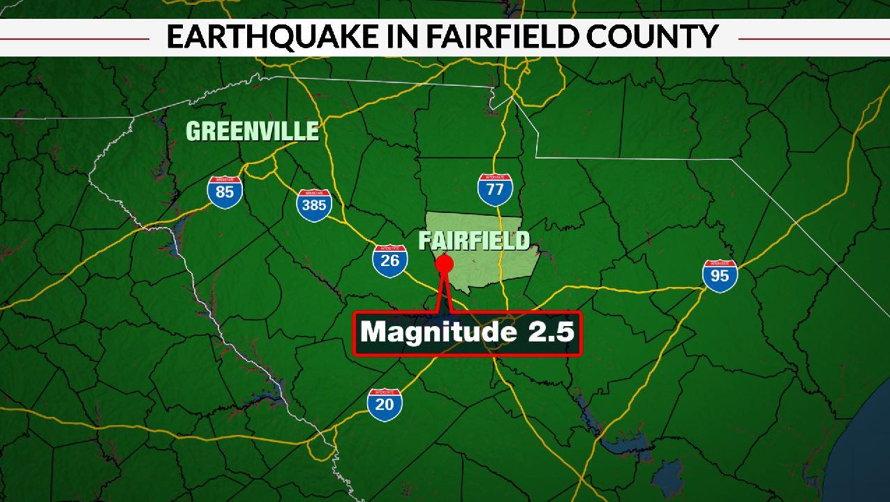 Earthquake in Fairfield Co.