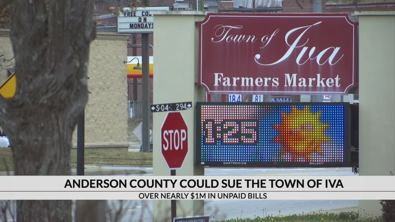 Anderson Co. could sue Town of Iva over nearly $1 million in debt