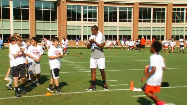 Deshaun Watson Hosts Football Camp at Clemson Practice Facility