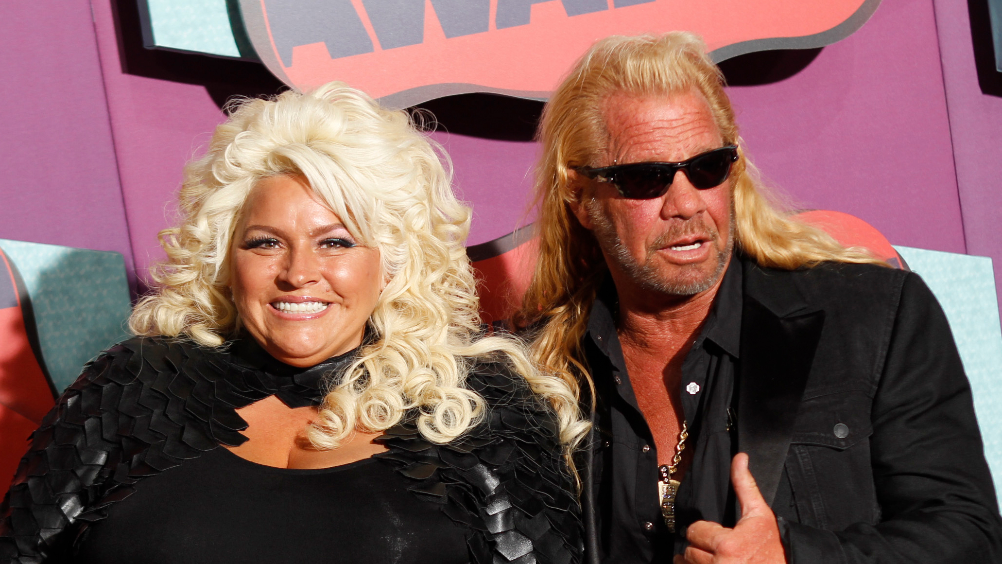 Beth Chapman, left, and Duane Chapman arrive at the CMT Music Awards at Bridgestone Arena on Wednesday, June 4, 2014, in Nashville, Tenn.