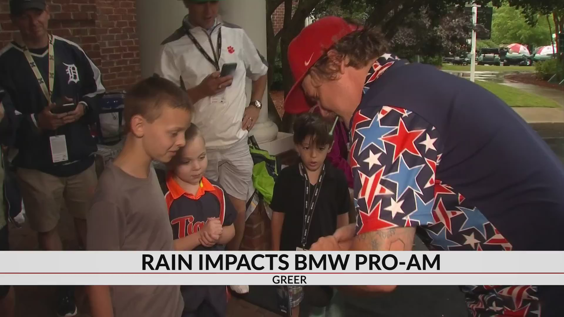 Heavy rains cause delays for BMW Charity Pro-Am