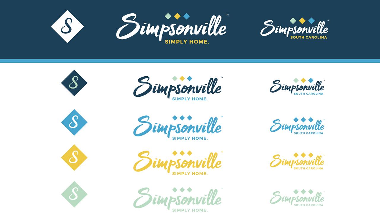 Logo examples for Simpsonville rebranding
