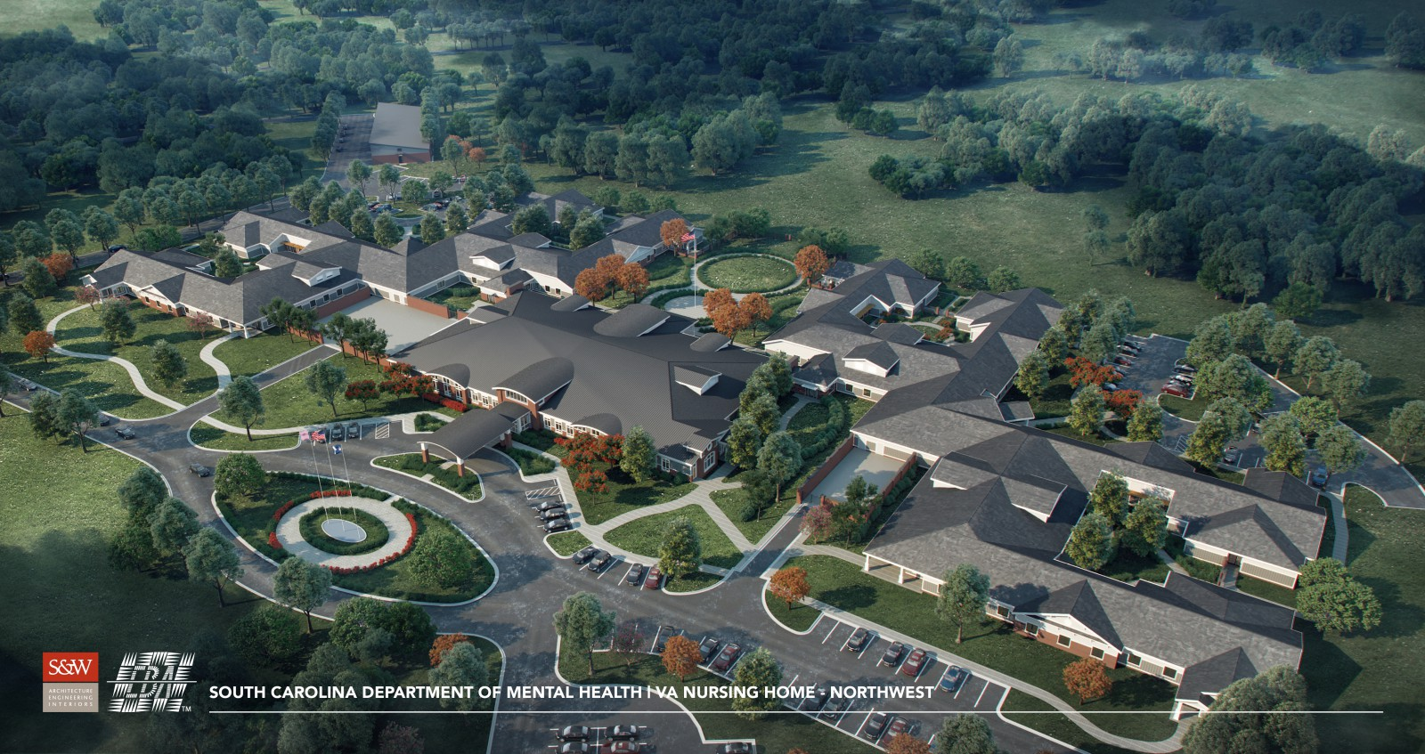 Architect rendering of Cherokee County Veterans Nursing Home