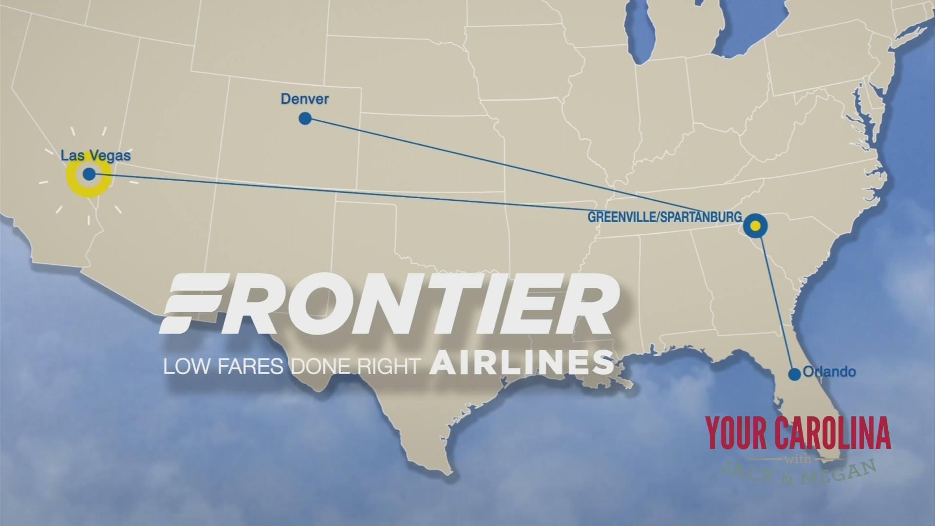 New NON Stop flights by Frontier Airlines from GSP