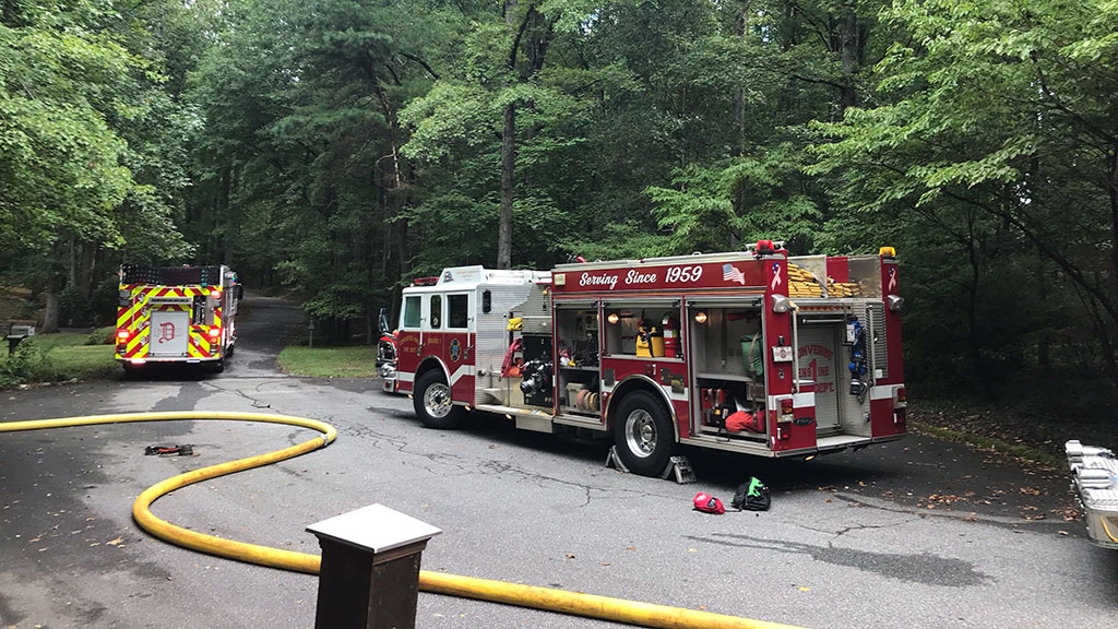 House fire reported on Cinder Creek Rd in Spartanburg Co