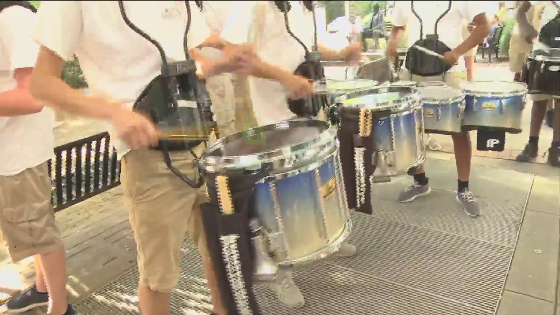 Dorman High School Drumline Opens The Show!