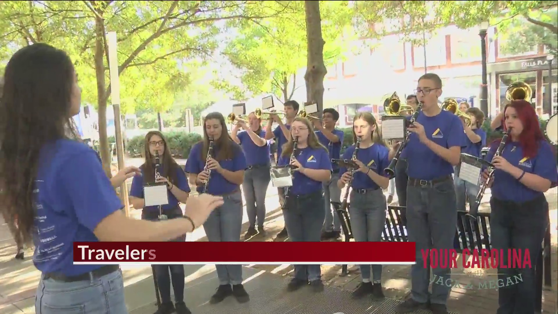 The Travelers Rest High School Band Plays Us Out Of The Show
