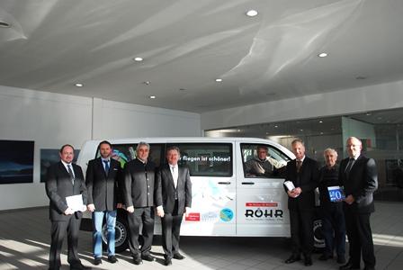 Neuer Vereinsbus von Fa. Röhr zur Verfügung gestellt