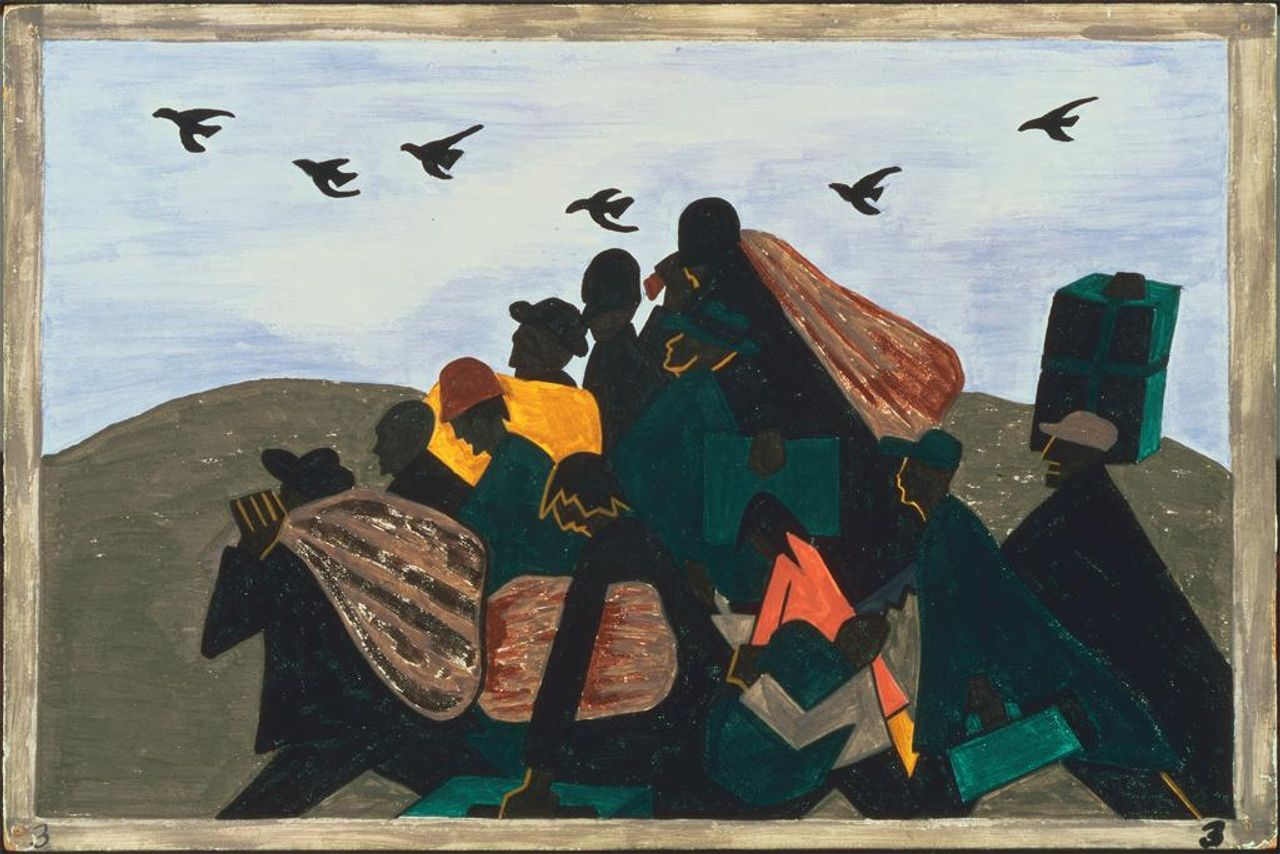 African American migration to the north, by Jacob Lawrence