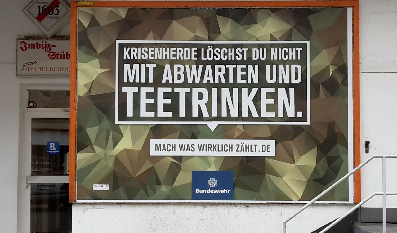 Advert for the Bundeswehr (German army)
