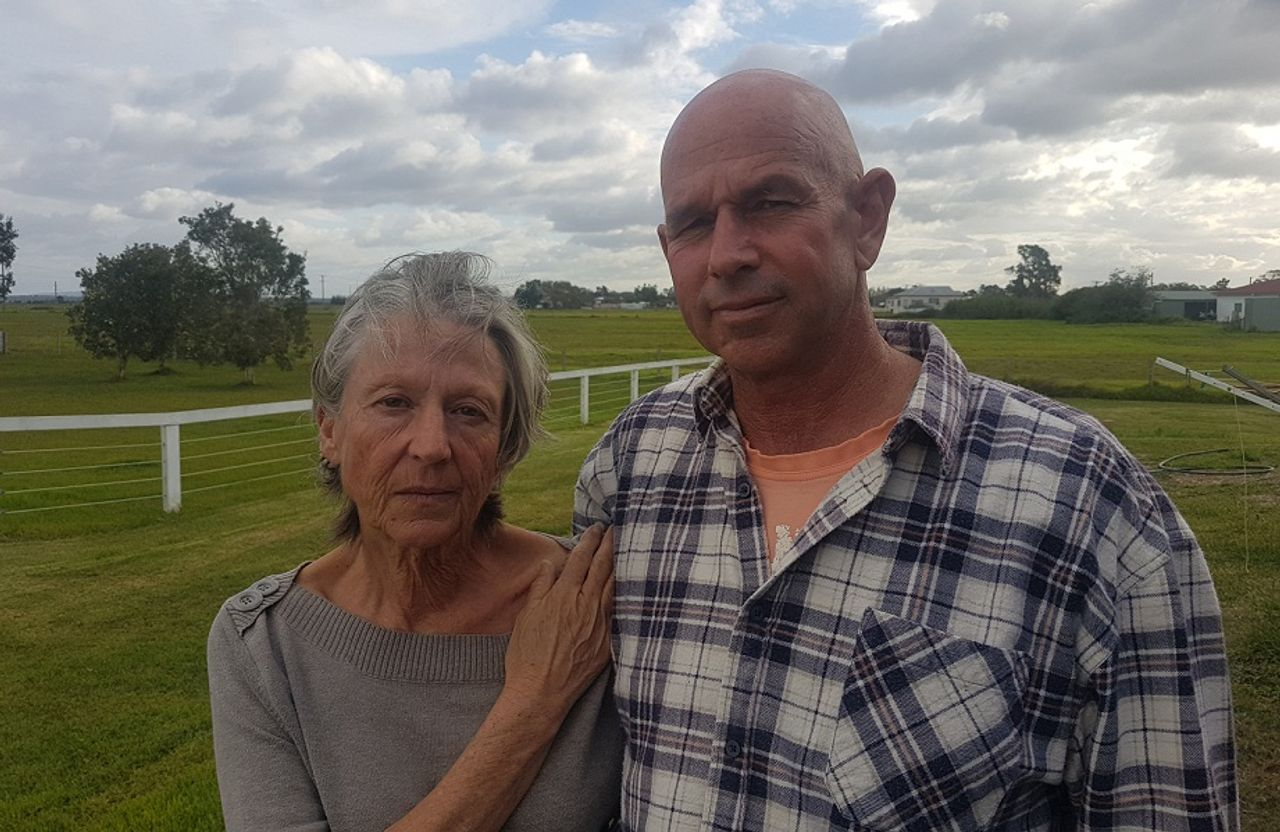 Jenny and Terry Robinson, victims of Australian military base pollution