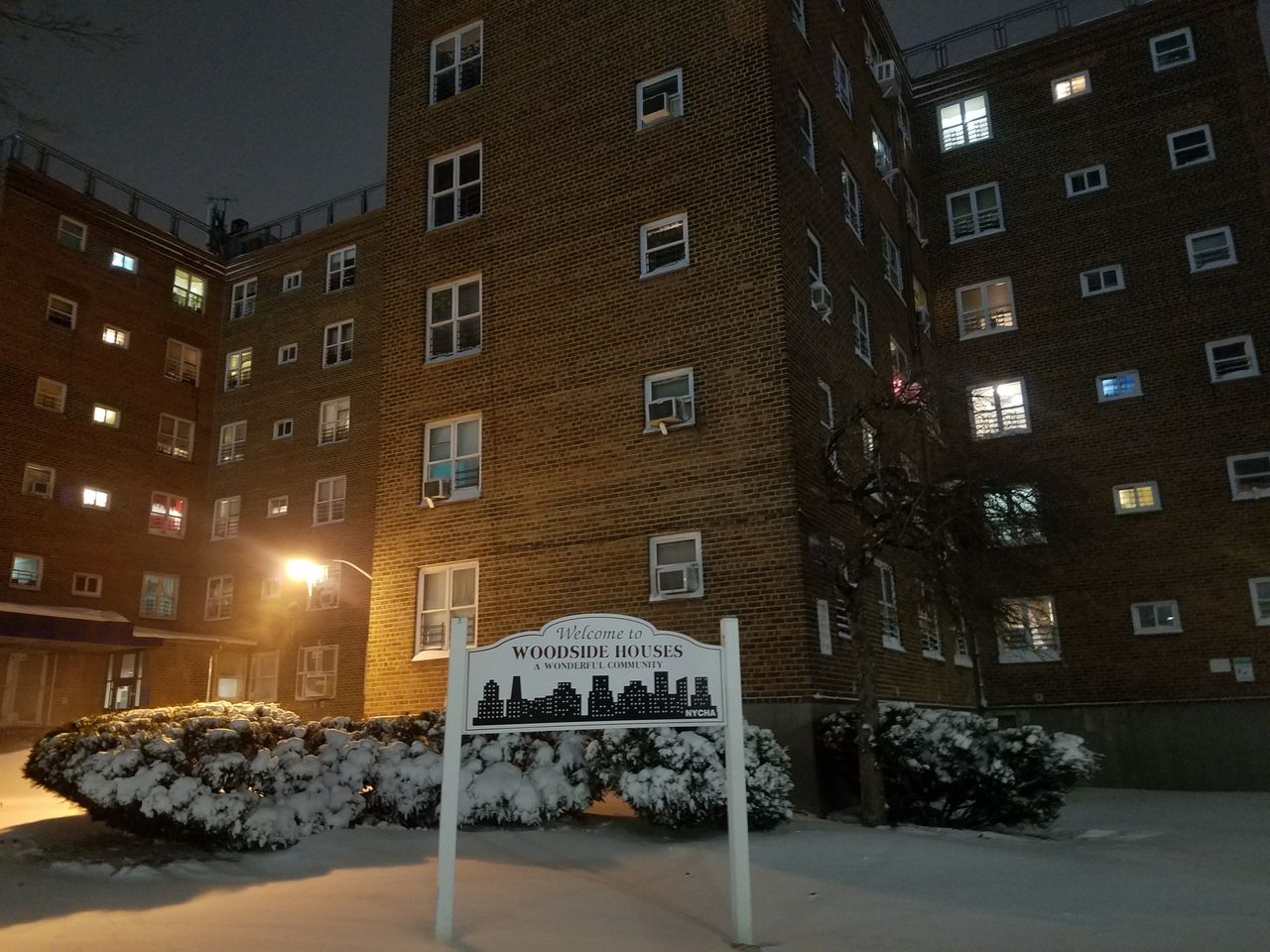 The Woodside Houses, where more than 1,300 units were without heat Thursday