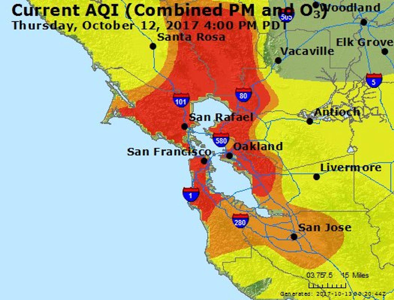 Air quality in California