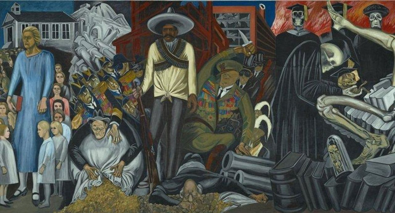 A section of The Epic of American Civilization (1932-34) by Jose Clemente Orozco