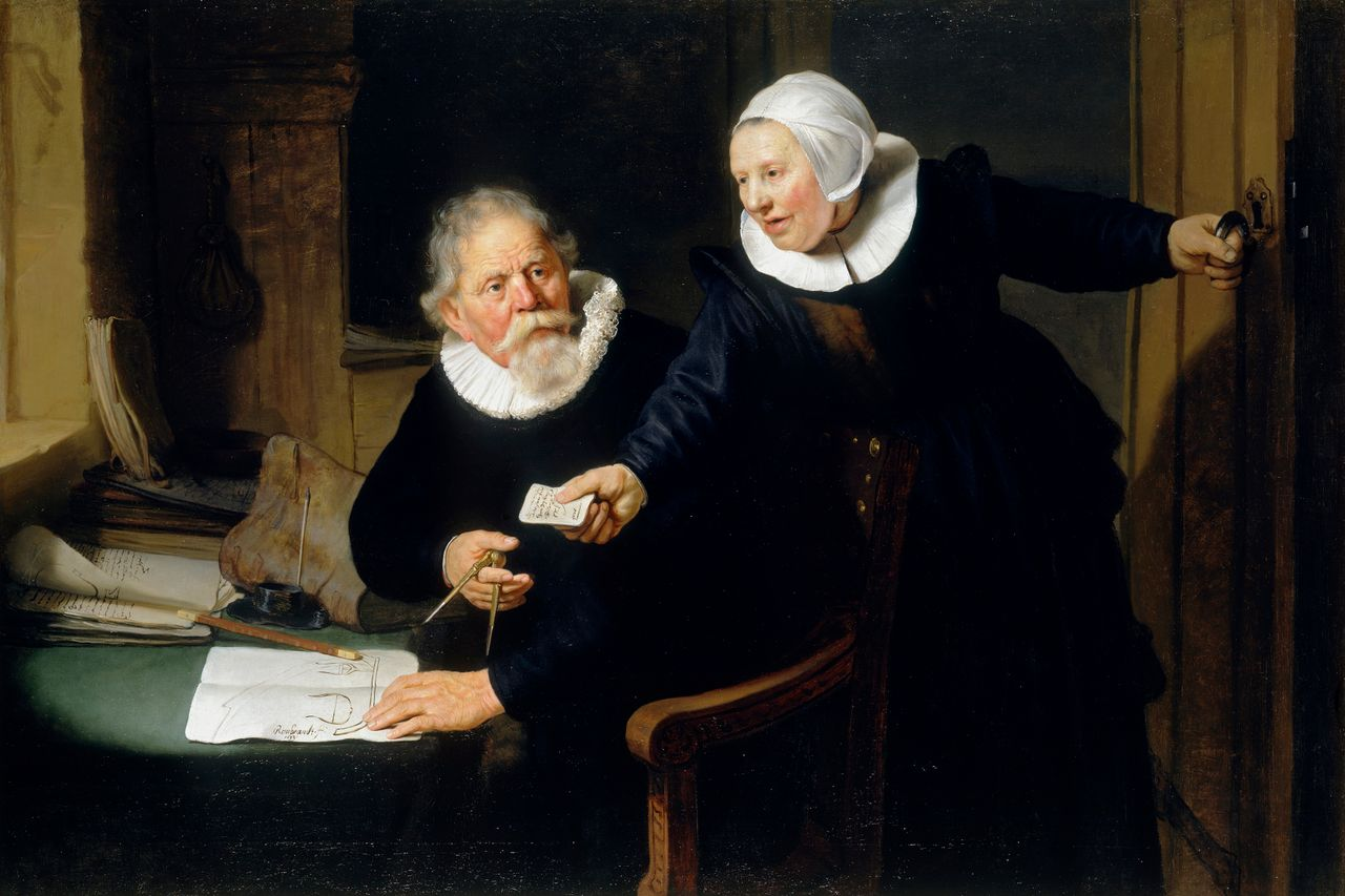 The Shipbuilder and his Wife, Rembrandt van Rijn, 1633, British Royal Collection